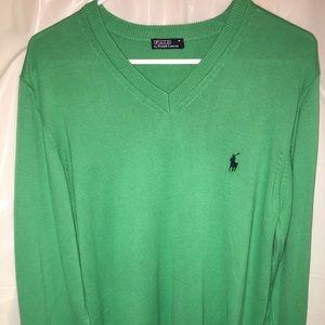 Polo V-Neck Sweater SZ M